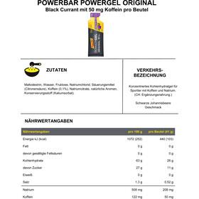 PowerBar PowerGel Original Caja 24x41g, Black Currant with Caffein